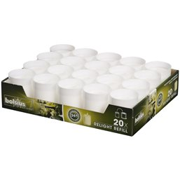 Refills Candles White Bolsius - Horecavoordeel.com