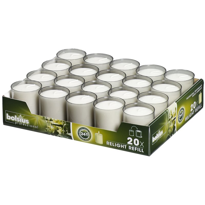 Refills Candles Grey Bolsius - Horecavoordeel.com