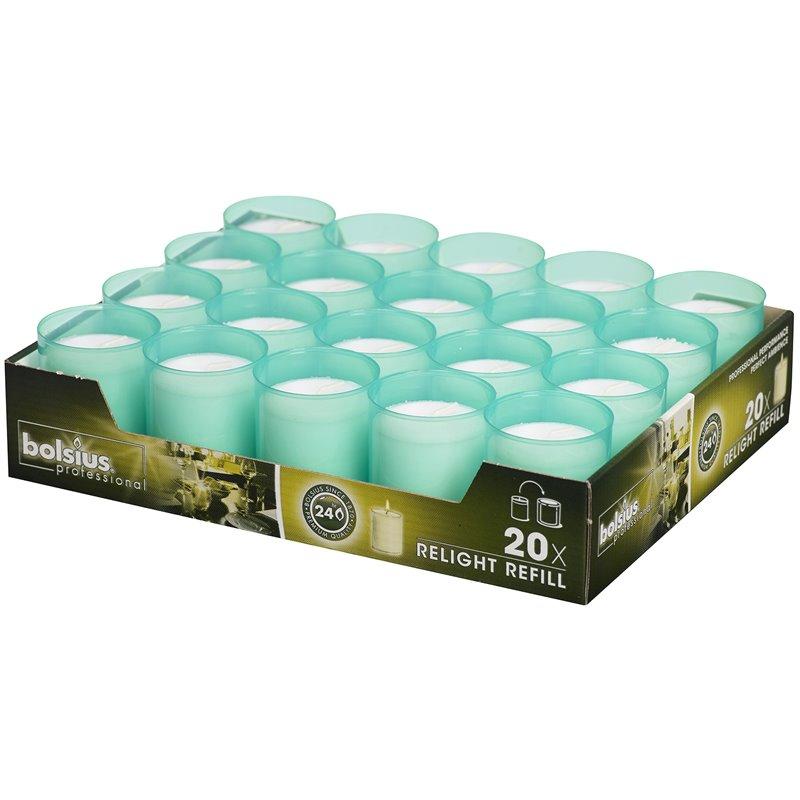 Refills Candles Sea Green Bolsius - Horecavoordeel.com
