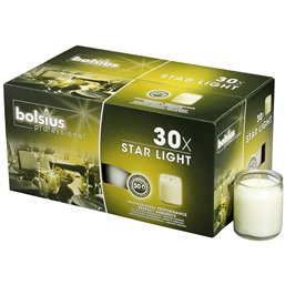 Star Light Glass Transparent Bolsius - Horecavoordeel.com