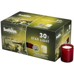 Star Light Glazen Rood Bolsius