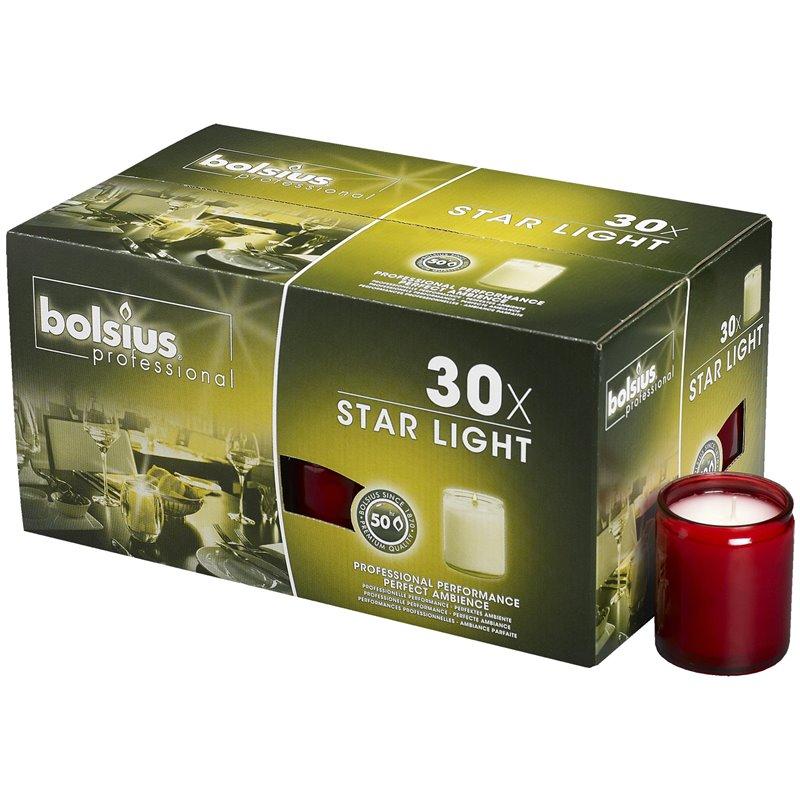 Star Light Glazen Rood Bolsius Horecavoordeel.com