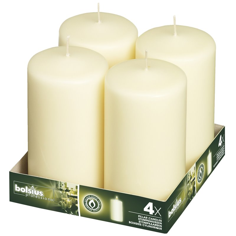 Pillar Candles 150x80mm Ivory - Horecavoordeel.com