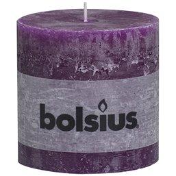 Pillar Candles Rustic 100x100mm Purple - Horecavoordeel.com