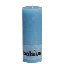 Pillar Candles Rustic 190x68mm Aqua - Horecavoordeel.com