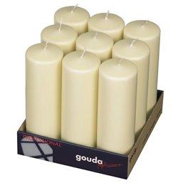 Pillar Candles 250x80mm Ivory - Horecavoordeel.com
