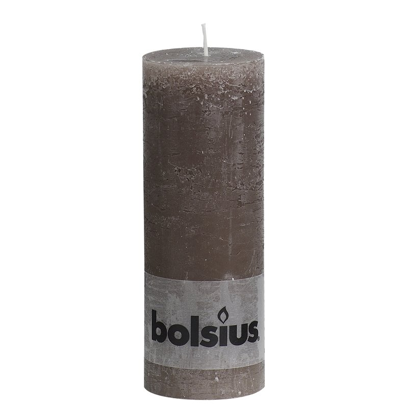 Stompkaarsenen Rustiek Taupe 190 x 68mm Horecavoordeel.com