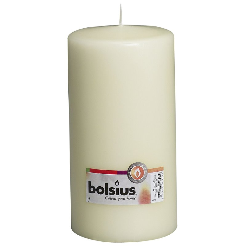 Pillar Candles 200x100mm Ivory - Horecavoordeel.com