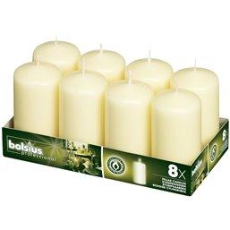 Pillar Candles 100x50mm Ivory Neutral