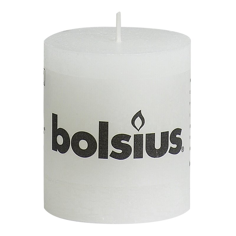 Pillar Candles 80x68mm Rustic White - Horecavoordeel.com