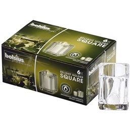 Bolsius Professional ReLight Houders Square Transparant