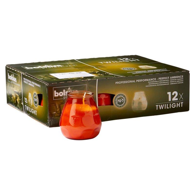 Twilight Kaarsen Oranje Bolsius 104 x 99mm Horecavoordeel.com