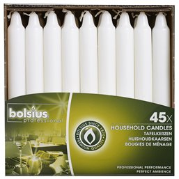 Dinner Candles 180x21,3mm White