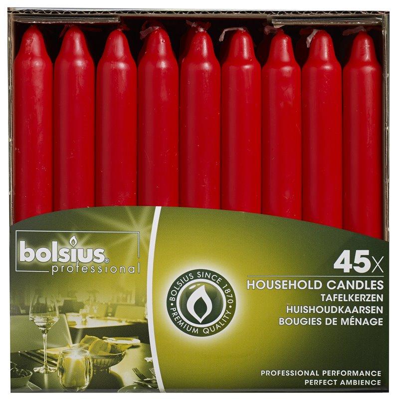 Dinner Candles Red 180x21mm  - Horecavoordeel.com