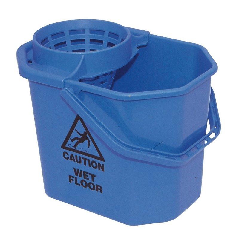 Mopset Mini Spanish Oval Blue 14 liter Bucket + Basket - Horecavoordeel.com