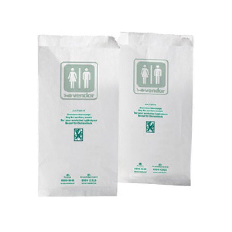 Ladies hygiene bag Vendor White Papier - Horecavoordeel.com