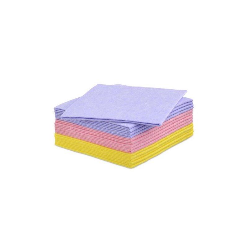 Reinigingsdoek Roze Eco 63 38x40cm (Klein-verpakking) Horecavoordeel.com