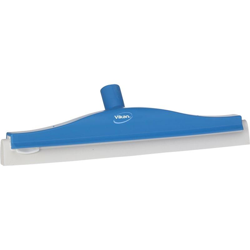 Floor wiper Flexible Neck (77623) Vikan Blue Cassette With White Rubber 40cm - Horecavoordeel.com