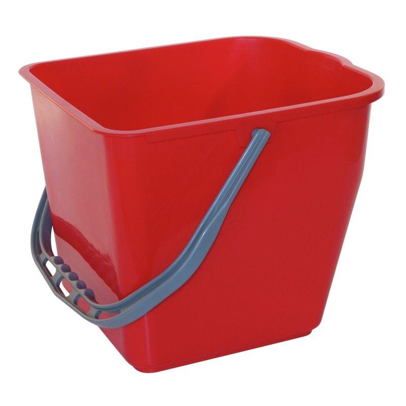 Bucket Filmmop 25 Liter Red - Horecavoordeel.com