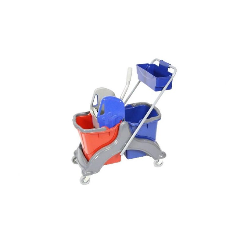 Roll bucket Robaline Duo 2x18l Including Plastic Press & Buckets - Horecavoordeel.com