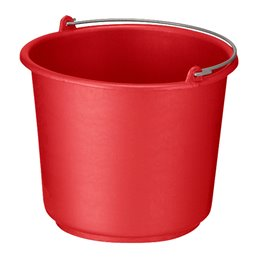 Bucket 12 liter Round Red-Orange