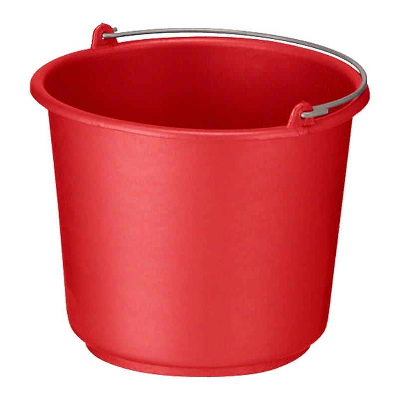 Bucket 12 liter Round Red-Orange - Horecavoordeel.com