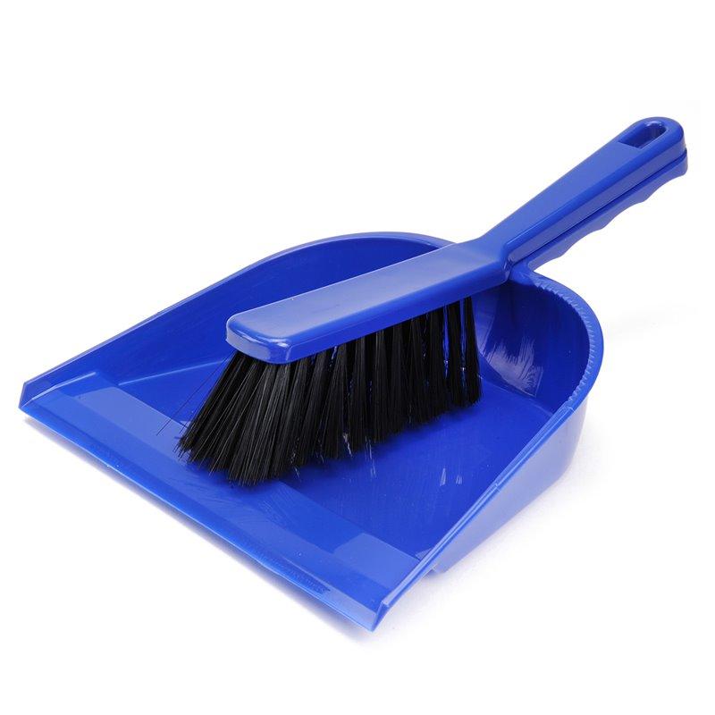 Hand Brush & Dustpan Plastic +lip - Horecavoordeel.com