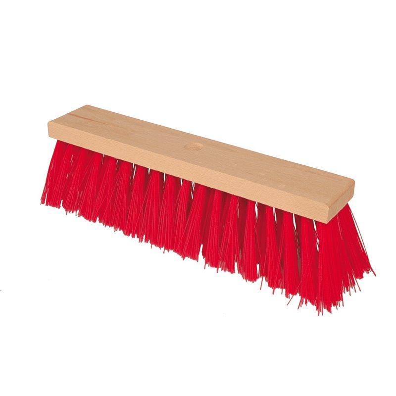 Street Broom 290mm Red Nylon - Horecavoordeel.com