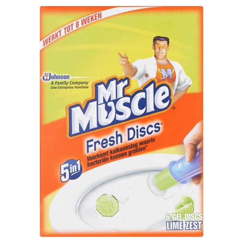 Toilet block Mr. Muscle Fresh Disks Eucalyptus - Horecavoordeel.com