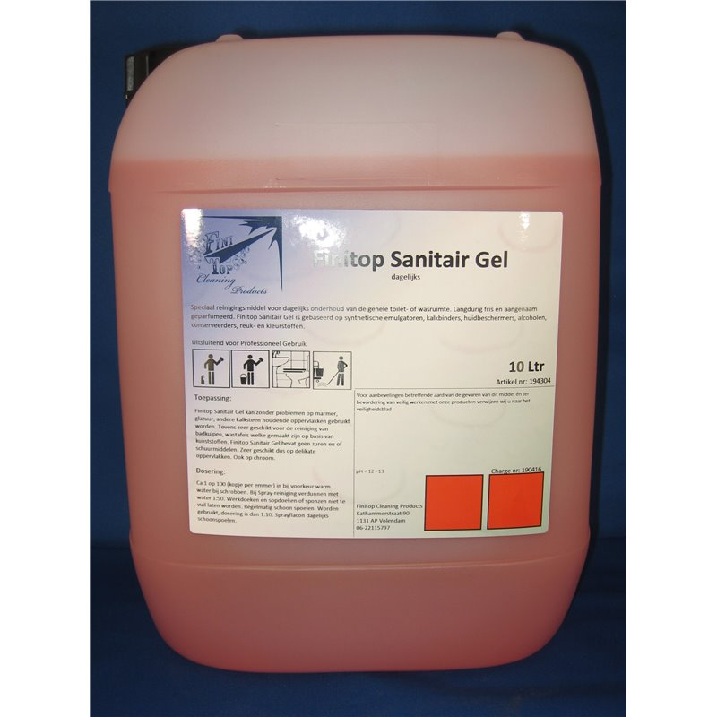 Sanitary cleaner Red Geconcentreerd Finito - Horecavoordeel.com