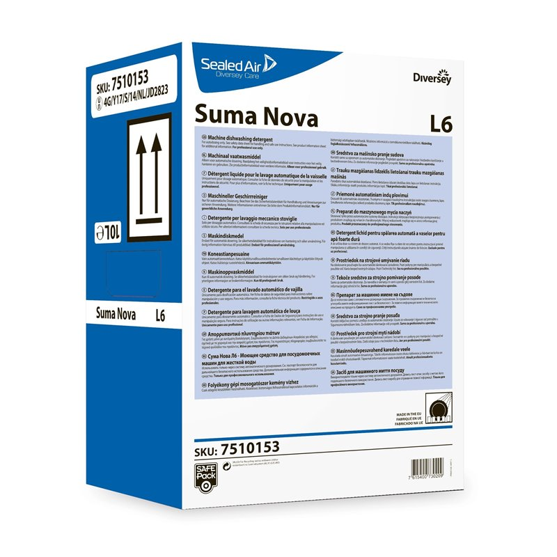 Dishwashing liquid Hard Water Suma Nova L6 Safepack - Horecavoordeel.com