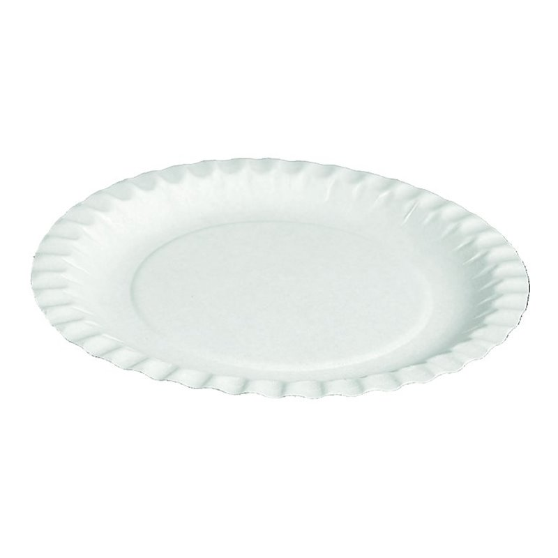 Paper Plate - dish  white 18cm (Small package) - Horecavoordeel.com
