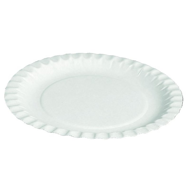 Paper Plate - dish  white 23cm (Small package) - Horecavoordeel.com