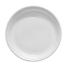 Plastic Plate - dish white 22cm 1 compartment - Horecavoordeel.com