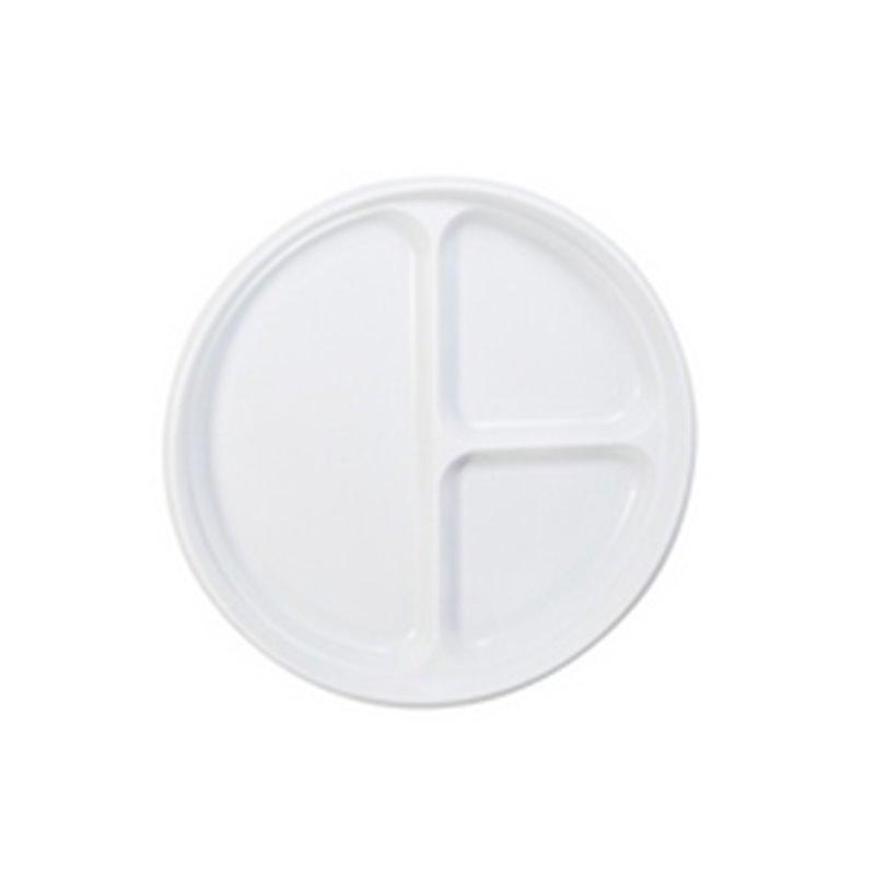 Borden Plastic 3-Vaks Wit Ø 220mm Horecavoordeel.com