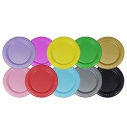 Plastic Plate - dish Silver 23cm