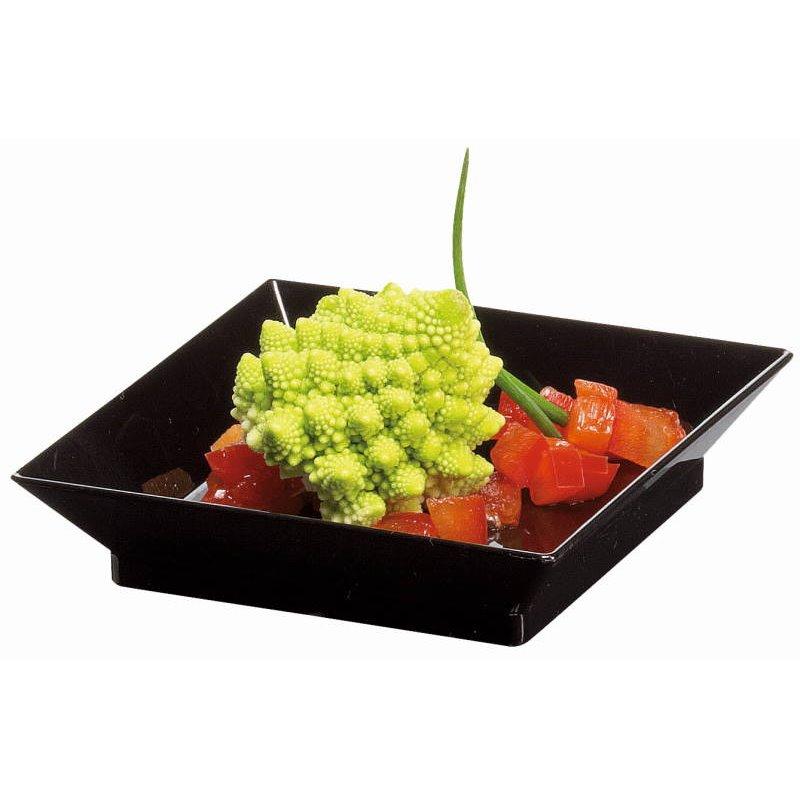 Amuse dish Cubik Black 60x60xh14mm (Small package) - Horecavoordeel.com