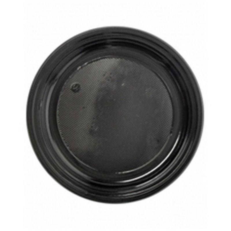 Plastic Plate - dish Black 18cm - Horecavoordeel.com