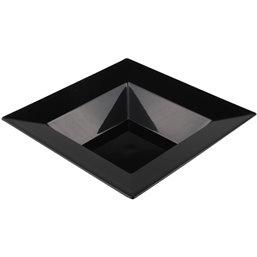 Plastic Plate - dish Deep Square Black 145x145mm