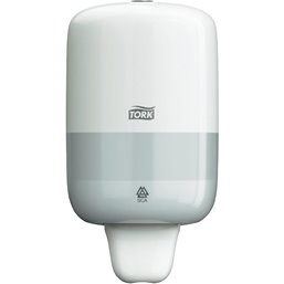 Soap Dispenser Tork S2 White Mini for  475cc Bottle  - Horecavoordeel.com