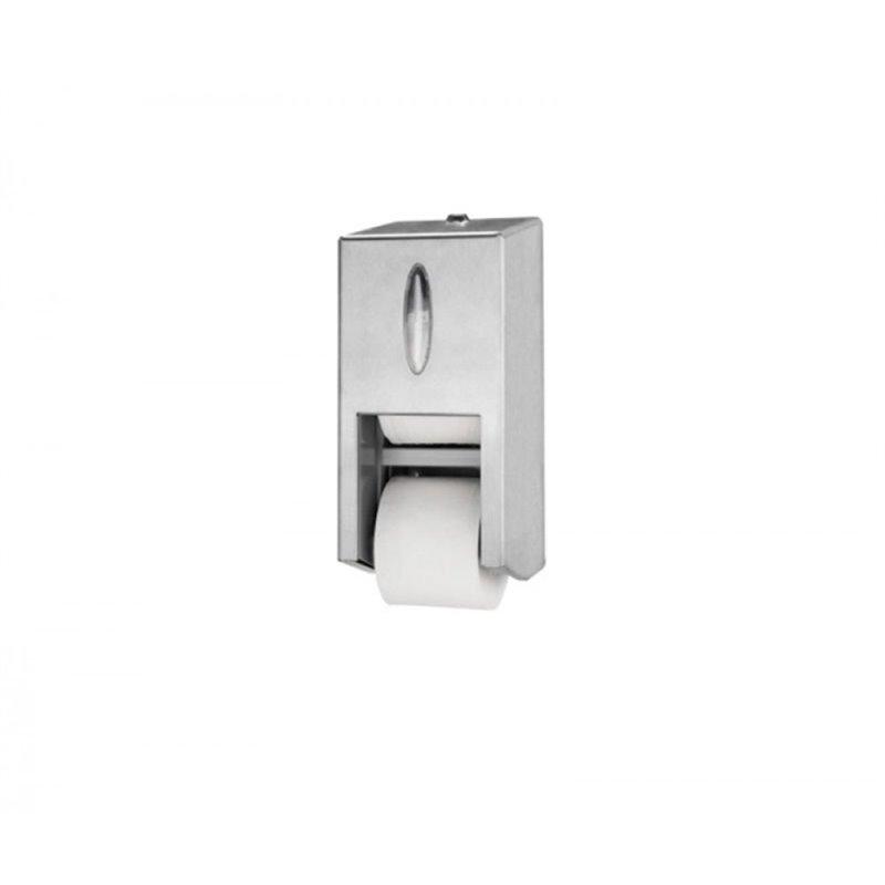 Toilet paper Dispenser Tork Twin Rvs - Horecavoordeel.com