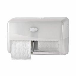 Toiletpapierdispenser Euro Duo Pearl White