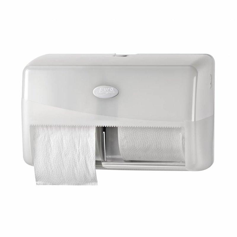 Toilet paper Dispenser Euro Duo Pearl White - Horecavoordeel.com