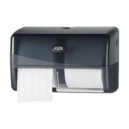Toilet paper Dispenser Traditional Euro Compact Duo Pearl Black - Horecavoordeel.com