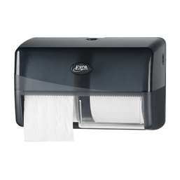 Toiletpapierdispenser Traditioneel Euro Compact Duo Pearl Black