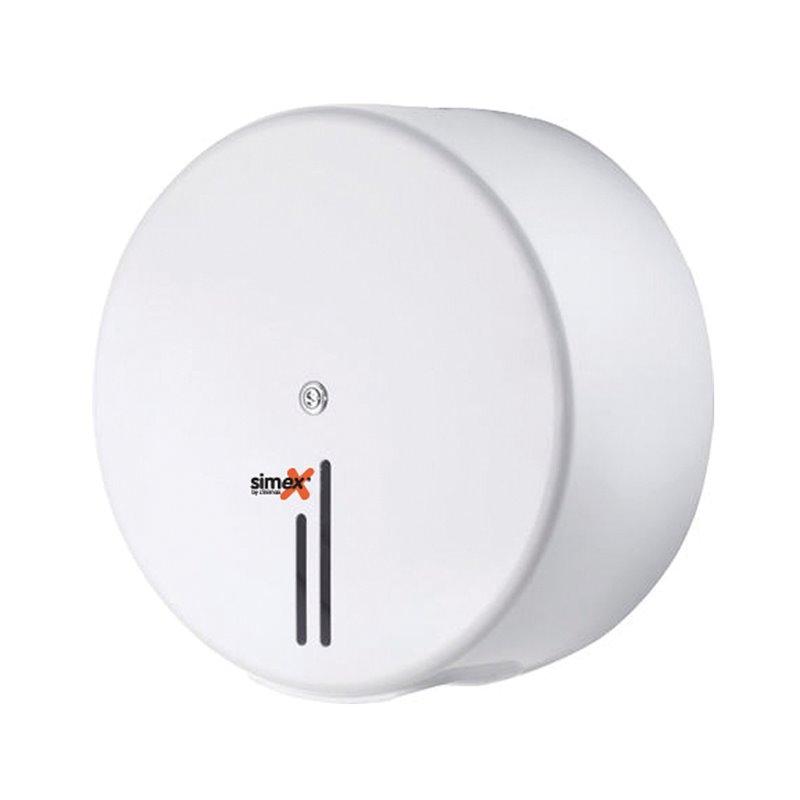 Toilet paper Dispenser Simex Mini Jumbo Steel White - Horecavoordeel.com