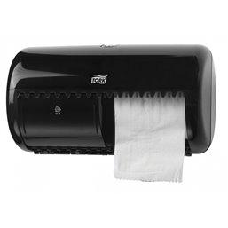 ToiletDispenser Tork T4 Twin Elevation Black