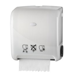 Towel Dispenser Euro Matic Autocut Pearl White