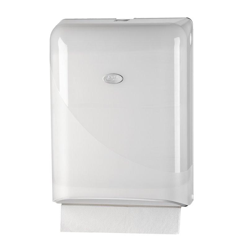 Towel Dispenser Euro Z-fold Interfold Pearl White - Horecavoordeel.com