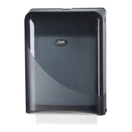 Towel Dispenser Euro Z-fold Interfold Pearl Black - Horecavoordeel.com